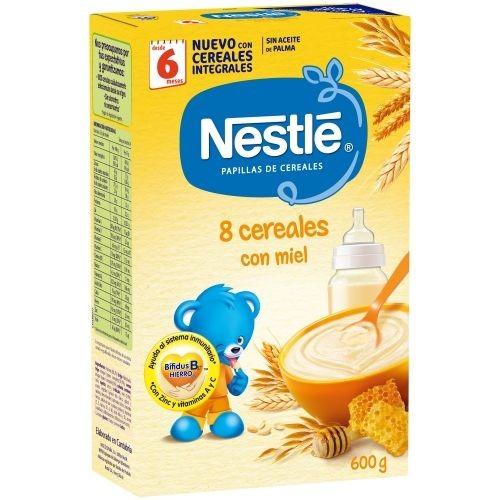 Nestlé Papilla 8 Cereales con Miel (600 g)