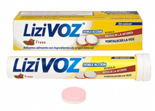 LiziVoz Pastillas para chupar Sabor Fresa (18 ud)