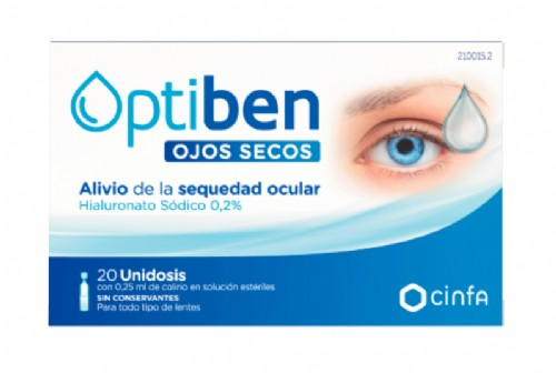 Cinfa Optiben Ojos Secos Gotas unidosis (0.25 ml x 20 ud)