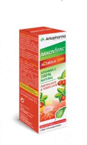 Arkovital Acerola 1000 fuente de Vitamina C (15 comprimidos)