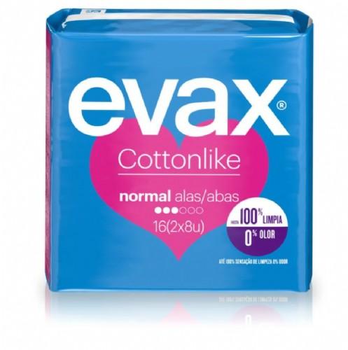 Evax Cottonlike Normal Compresas con alas (16 ud)