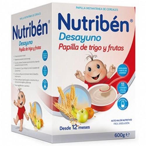 Nutribén desayuno papilla de trigo con fruta (600 g)