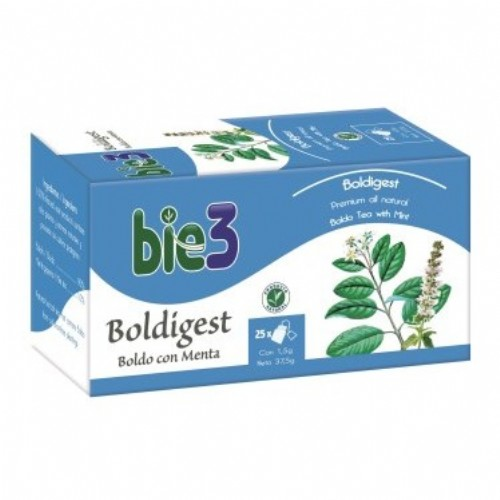 Bie3 Boldigest - Boldo con Menta (25 bolsas filtro)