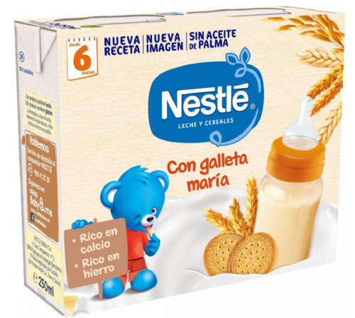 Nestlé Leche y Cereales con Galleta María (250 ml x 2 bricks)