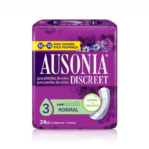 Ausonia Discreet Normal (24 unidades)