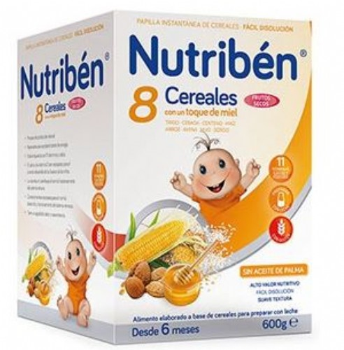 Nutribén® 8 Cereales con un toque de miel Frutos secos
