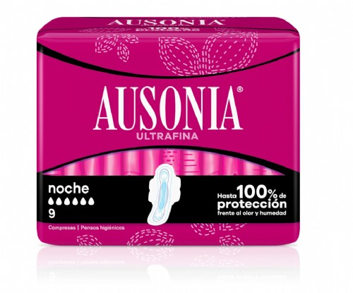 Ausonia Compresas Noche con Alas (9 ud)