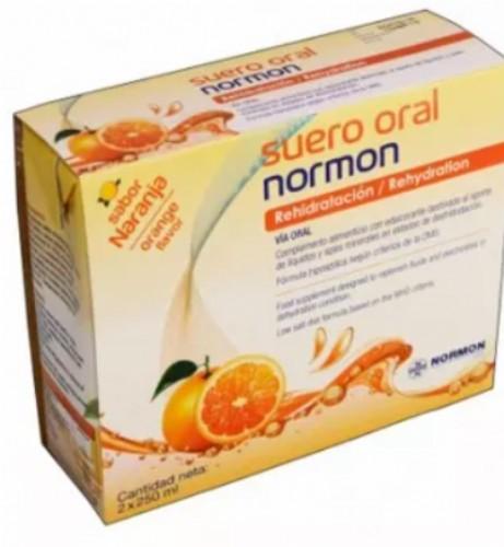 Normon Suero oral  Sabor Naranja - PACK 2 ud x 250 ml