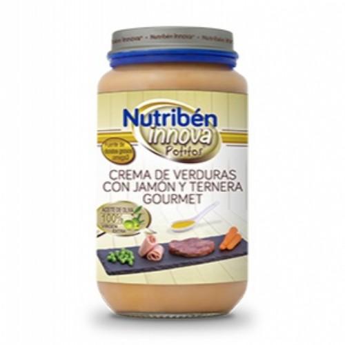 Potito Nutribén Innova crema de verduras con jamón y ternera gourmet