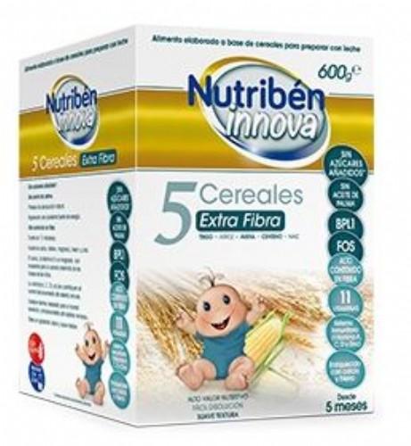 Nutribén Innova Papilla 5 Cereales Extra Fibra (600g)