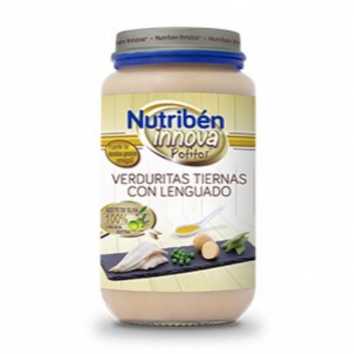 Potito Nutribén Innova verduritas tiernas con lenguado (250 g)