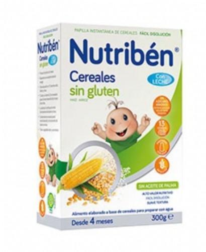 Nutribén Cereales sin gluten con leche adaptada (300 g)