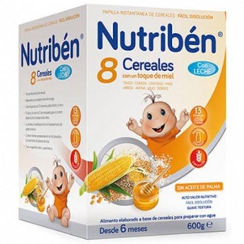 Nutribén 8 Cereales con un toque de miel con Leche adaptada (600 g)