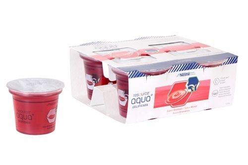 Resource Agua Gelificada sabor granada (125 g x 4 ud)
