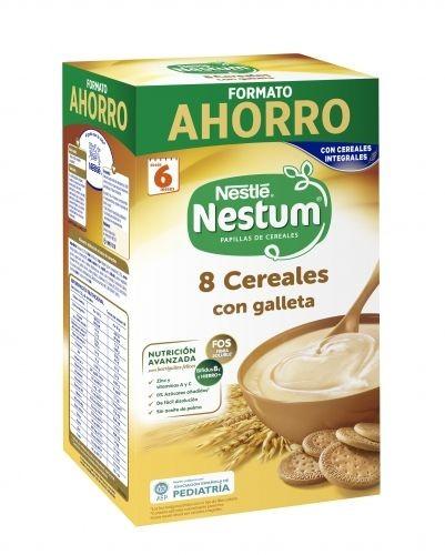 Nestlé Nestum Papilla 8 Cereales con Galleta (1.100 g)