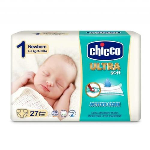 Chicco Pañales Dry Fit Recién Nacido Talla 1 2-5kg (27ud)