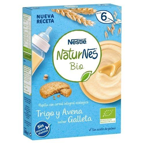 Nestlé Naturnes Papilla BIO Trigo y Avena sabor Galleta +6m (240 g)