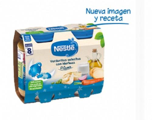 Nestlé Puré Cena Verduritas selectas con merluza + 8m (200 g x 2 ud)