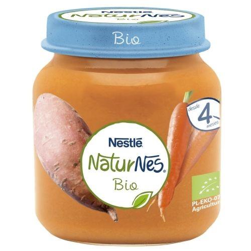 Nestlé NaturNes Bio Puré de Zanahoria y Boniato 4 meses (125 g)