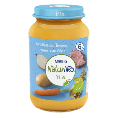 Nestlé NaturNes Bio Tarrito Hortalizas con Ternera +6m (190 g)