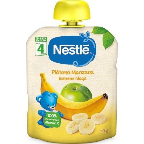 Nestlé Puré Plátano y Manzana +4 m (90 g)