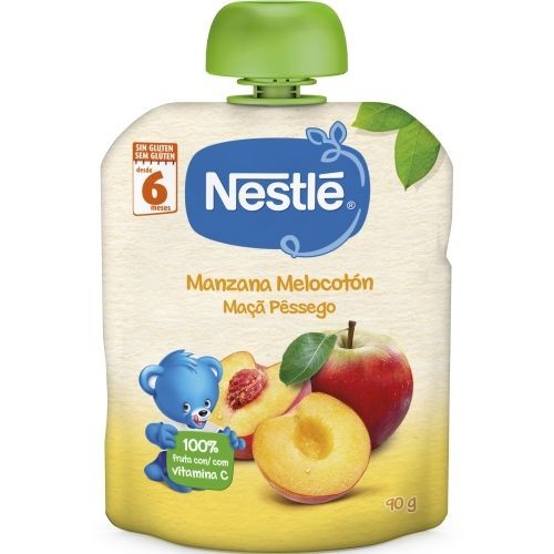 Nestlé Puré Manzana y Melocotón +6 m (90 g)