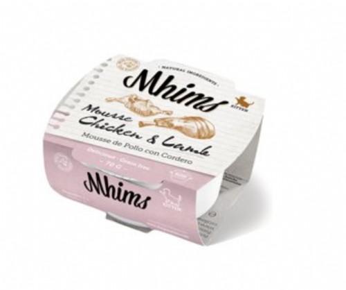 Mhims Cat Kitten Mousse de Pollo con Cordero para Gatitos (70 g)
