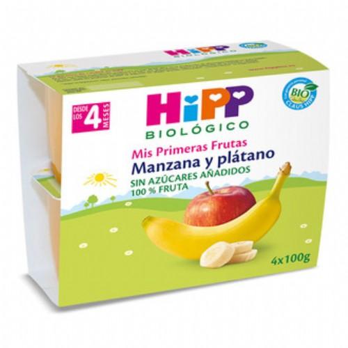 HiPP Tarrina Bio Manzana y Plátano +4m (100 g x 4 ud)