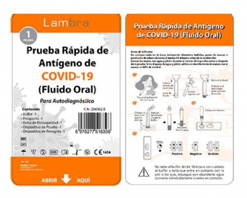 test covid antigenos saliva