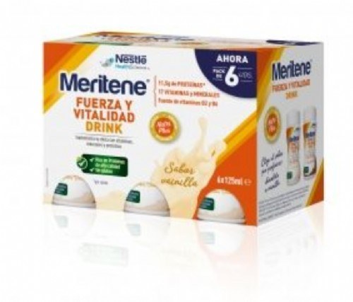 MERITENE DRINK (125 ML 6 BOTELLAS VAINILLA)