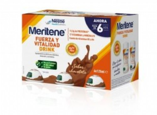 MERITENE DRINK (125 ML 6 BOTELLAS CHOCOLATE)