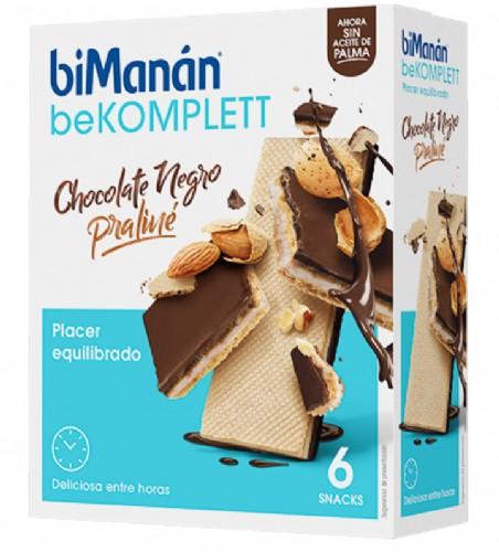BiManán BeKomplett Snack Chocolate negro y Praliné (6 ud)