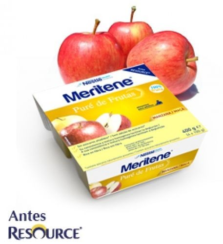 Meritene Tarrina Puré de manzana (100 g x 4 ud)
