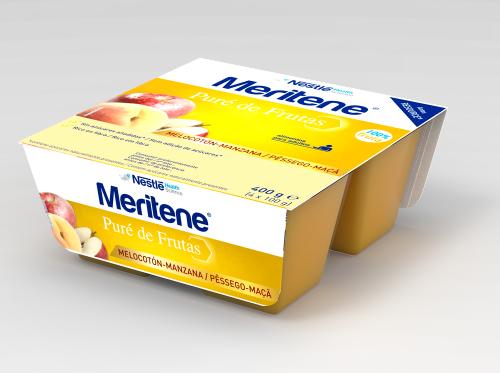 Meritene Puré de Melocotón y Manzana (100 g x 4 ud)