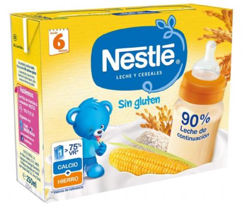 Nestlé Leche y Cereales sin gluten lista para tomar (250 ml x 2 bricks)