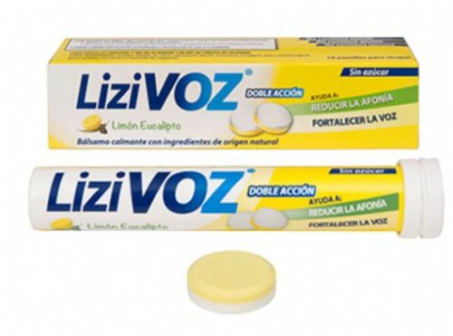 LiziVoz Pastillas para chupar Sabor Limón y Eucalipto (18 ud)