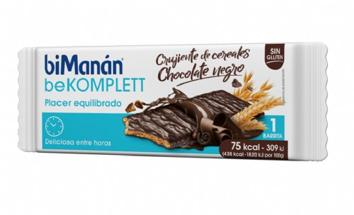 BiManán BeKomplett Snack Crujiente de Cereales y Chocolate negro (1 ud)