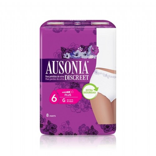 Ausonia Discreet Pants Plus talla G (8 uds)