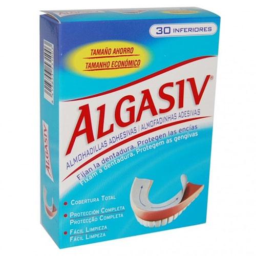 ALGASIV - ALMOHADILLAS ADHESIVAS PROTESIS (30 U INFERIOR)