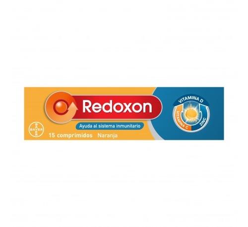 Redoxon Doble Acción - Vitamina C + Zinc - Sabor naranja (15 comp ef)