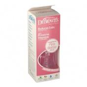 Dr. Brown's Natural Flow Options Biberón de Boca Ancha Rosa (240 ml)