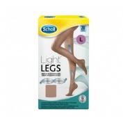 Dr. Scholl Medias de compresión ligera - Light Legs 20 DEN color carne - talla L