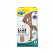 Dr. Scholl Medias de compresión ligera - Light Legs 20 DEN color carne - talla XL