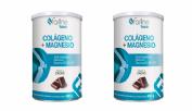 Farline Pack DUPLO Colágeno + Magnesio Sabor Cacao (400 g x 2 ud)
