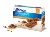 BiManán Sustitutive Barrita Cereales al cacao con chips chocolate (40 g x 8 barritas)
