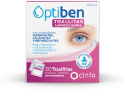 Cinfa Optiben Toallitas Limpieza Ocular Diaria (30 ud)