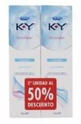 Durex Duplo Sensilube KY Gel Intimo (75 ml x 2 ud)