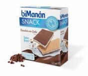 BiManán Snack Barquillo Chocolate con leche Sabor Yogur (6 ud x 20 g)