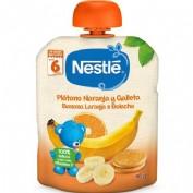 Nestlé Bolsita Plátano, Naranja y Galleta +6 m (90 g)