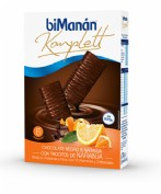 BiManán Komplett Barritas Chocolate negro y naranja (35 g x 6 ud)